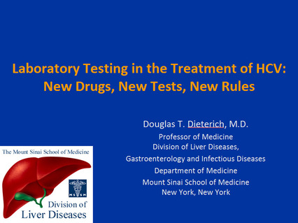 ... Testing in the Treatment of HCV: New Drugs, New Tests, New Rules