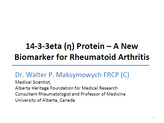 1433 eta protein a new direction in the early diagnosis of rheumatoid arthritis_maksymowych_slide
