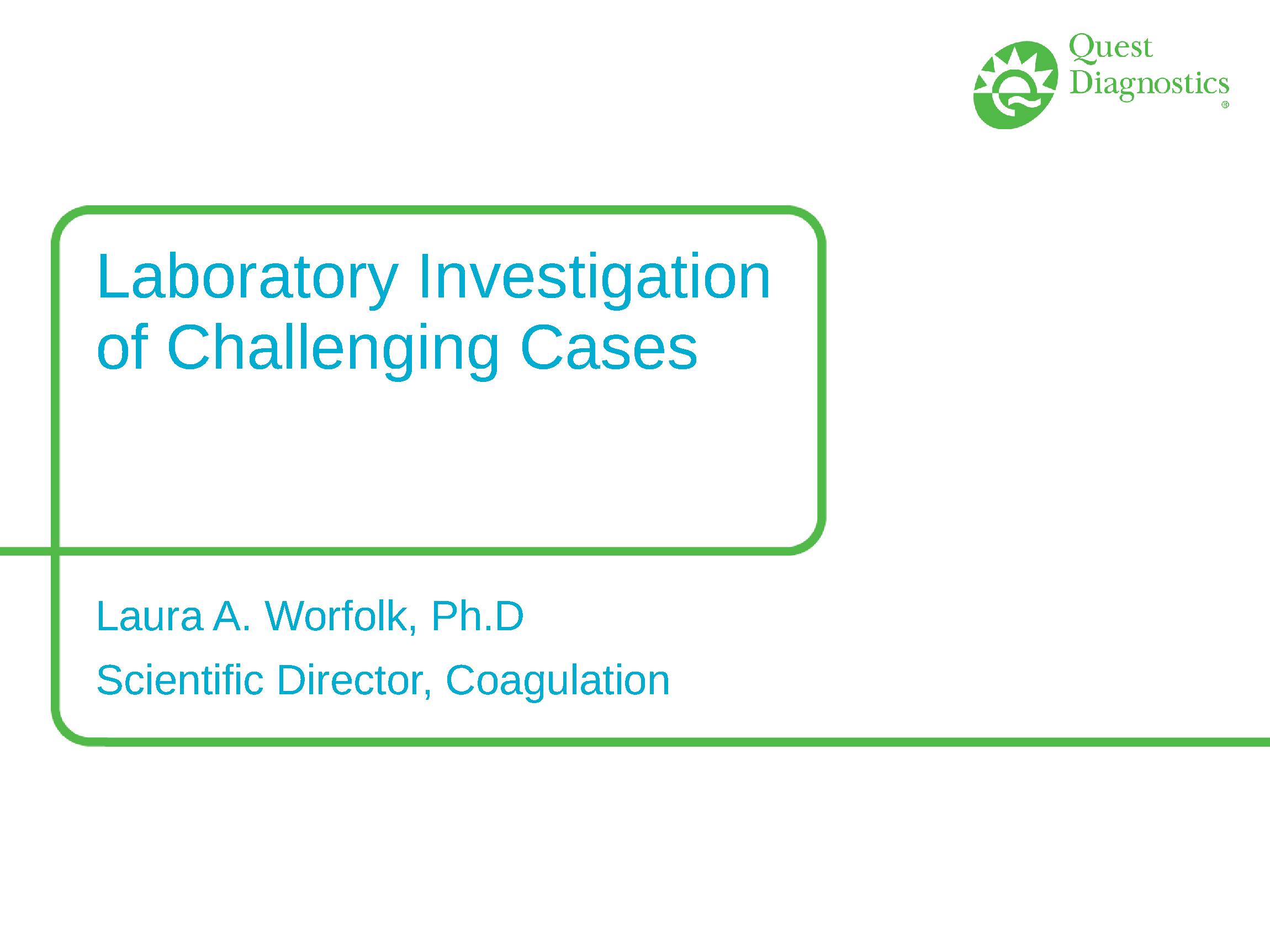 anticoagulant case study