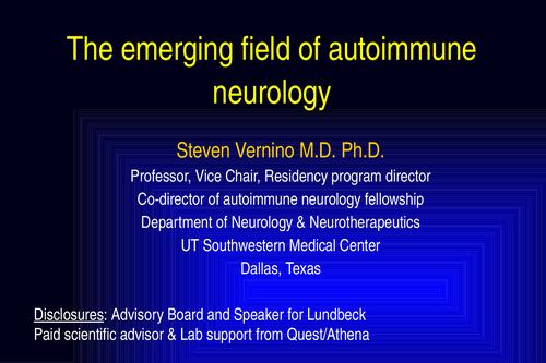 The Emerging Field of Autoimmune Neurology