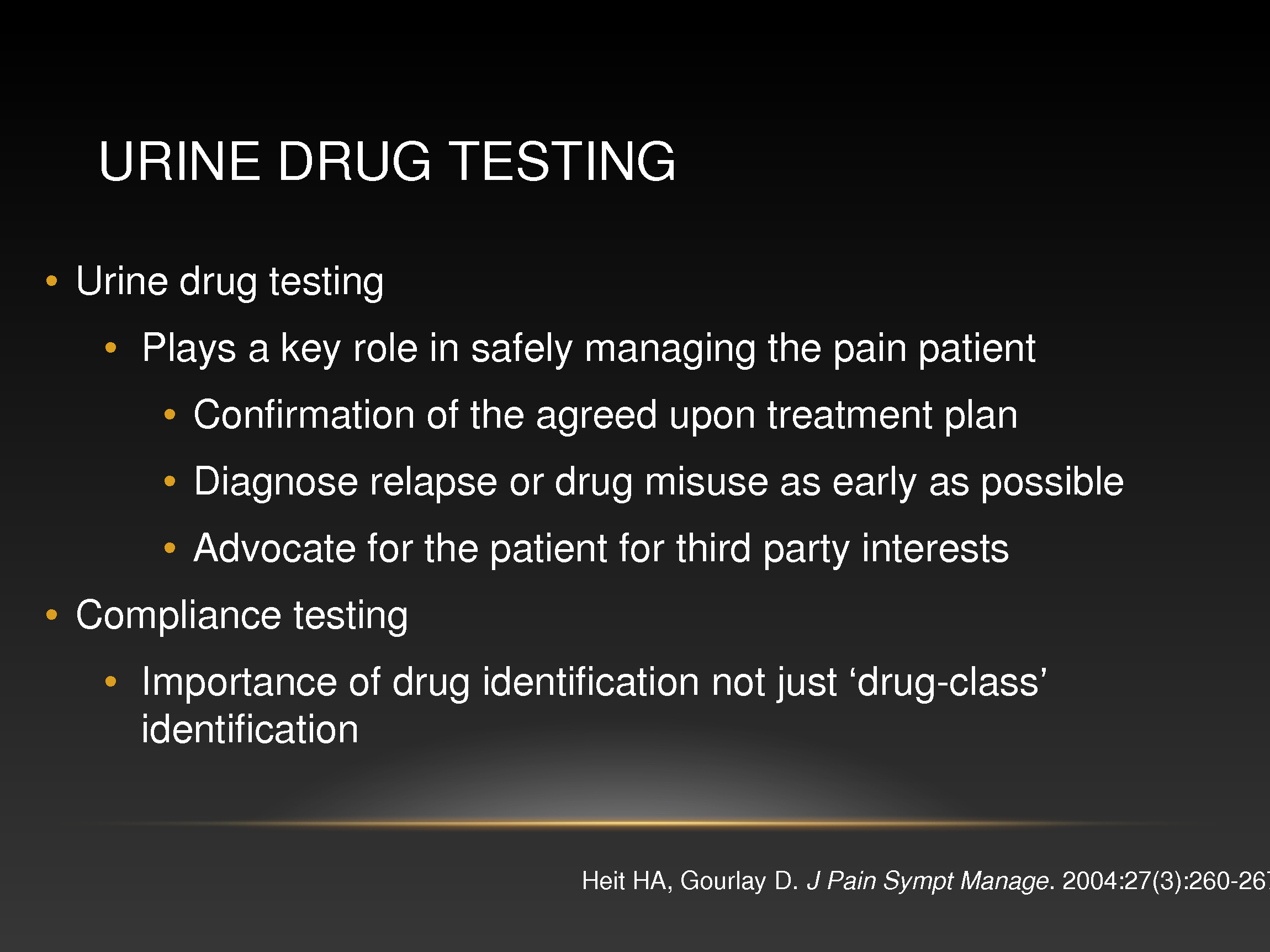 urine drug testing for patients with chronic pain
