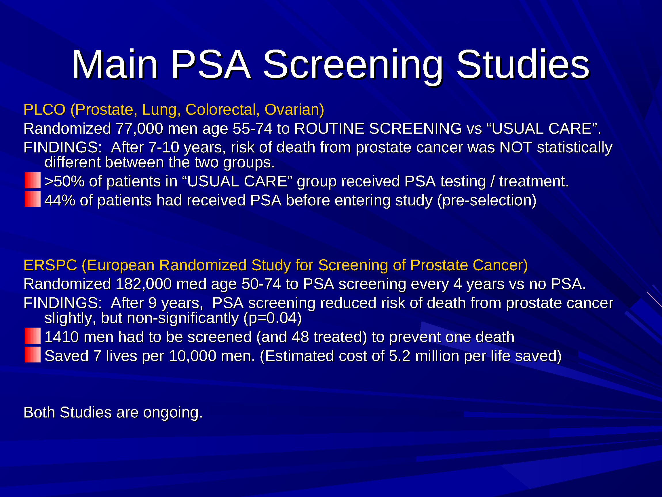 prostate cancer screening icd 10